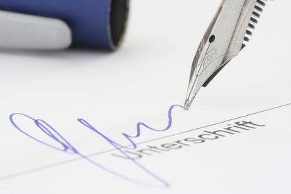 die unterschrift